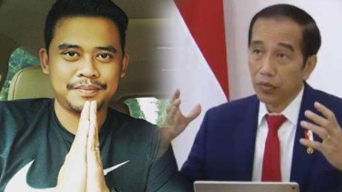 Presiden Jokowi dan sang menantu, Bobby Nasution. Harta kekayaan Jokowi dilampaui sang menantu.