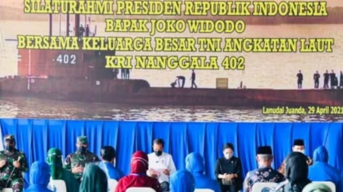 Presiden Jokowi Silaturahmi dengan Keluarga Besar KRI Nanggala-402 di Surabaya