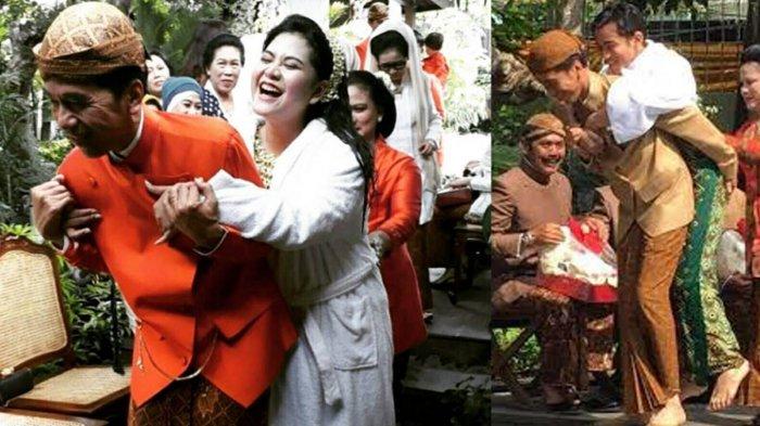 Penuh Tawa Saat Tak Sanggup Gendong Kahiyang Ayu, Foto Jokowi di Depan Tungku 'Bapak' Banget
