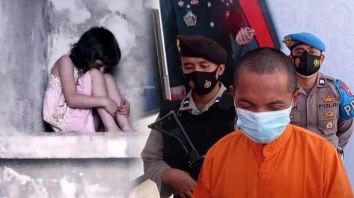 Ilustrasi - anak korban persetubuhan. Foto Kanan : Pria Lumajang tega menyetubuhi anak tirinya yang masih usia 12 tahun berulang kali. Ironisnya, ketika ditangkap polisi ngakunya khilaf. Hal itu membuat istrinya syok.
