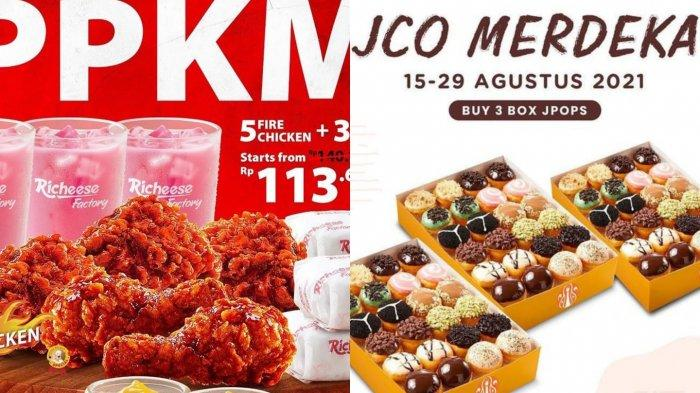 Promo Agustus Hari Kemerdekaan: Diskon 5 Fire Chicken di Richeese Factory dan JCO 3 Box Rp 105 Ribu