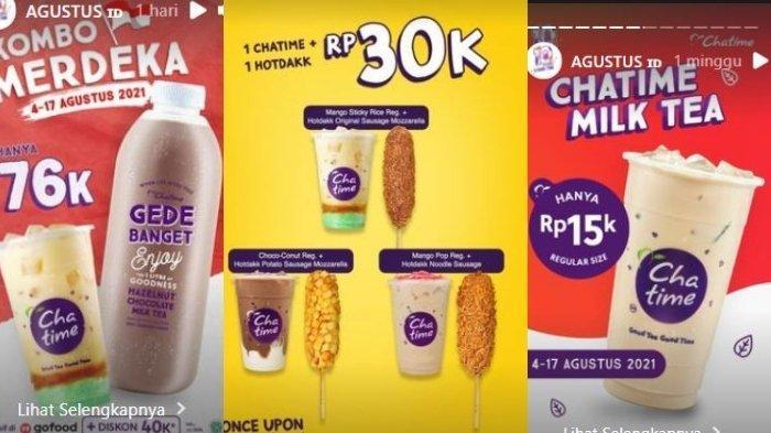 Promo Agustus Hari Kemerdekaan: Chatime Seharga Rp 15 Ribu, Burger King dan KFC Diskon 50%