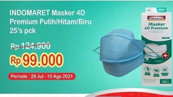 Promo Alfamart dan Indomaret Minggu 1 Agustus 2021: Diskon Masker 4D hingga Popcorn Beli 2 Gratis 1