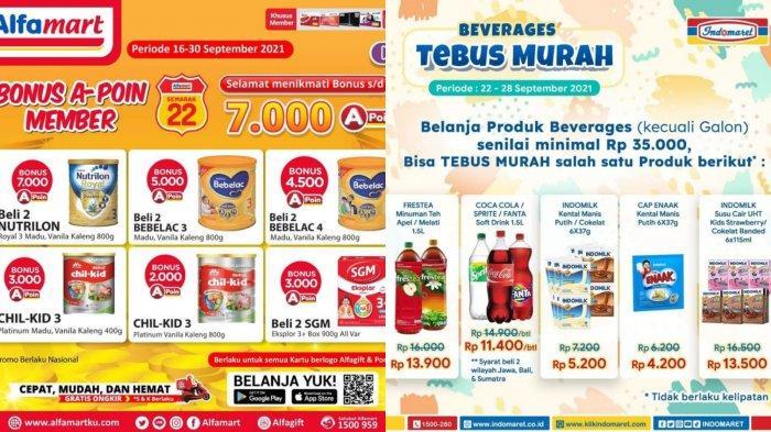 Promo Alfamart & Indomaret 24 September: Bonus Poin Setiap Beli Susu Anak & Tebus Murah Akhir Pekan