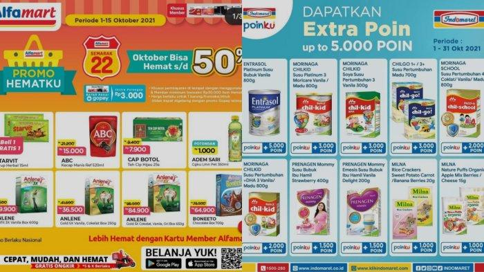 Promo Alfamart & Indomaret 4 Oktober 2021: Ada Potongan 50 Persen hingga Dapat Ekstra 5000 Poin