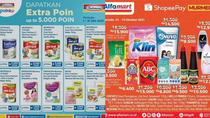 Promo Alfamart & Indomaret 5 Oktober 2021: Potongan Harga dari ShopeePay dan Dapat Ekstra 5000 Poin