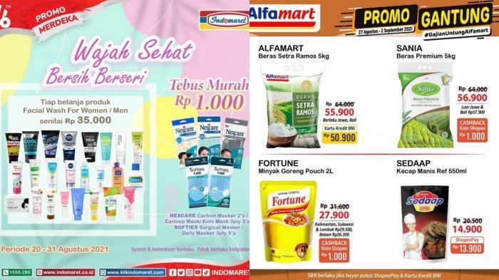 Promo Alfamart & Indomaret JSM Sabtu 28 Agustus: Diskon GOPAY Minyak Goreng, Tebus Murah Facial Wash