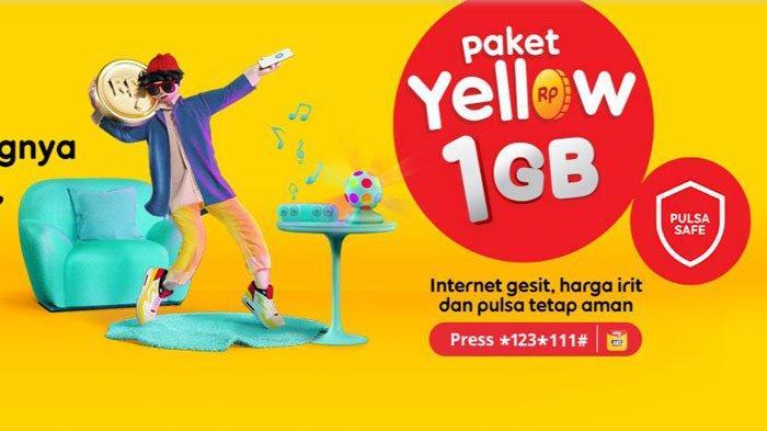 Promo paket internet murah Yellow Indosat Ooredoo