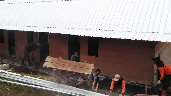 Proses Pembangunan Huntara untuk Warga Dusun Brau Kota Batu Telah Rampung