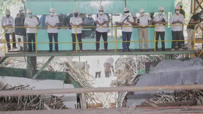 PTPN X Giling Perdana di PG Ngadirejo Kediri, Target Produksi Capai 275.000 Ton Gula
