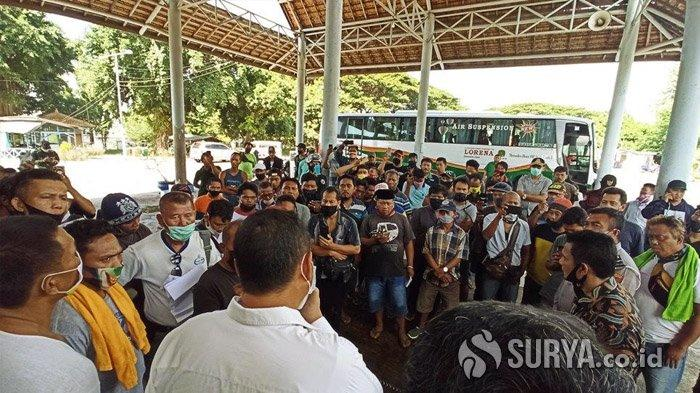 Protes Bayar Rapid Test, Ratusan Sopir Truk Logistik yang Hendak ke Bali Lakukan Aksi Mogok