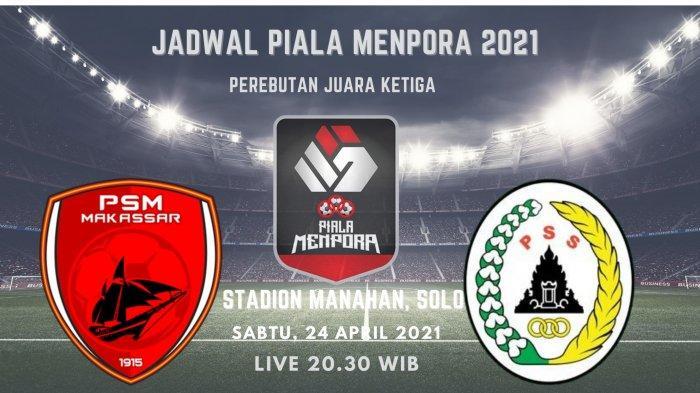 Prediksi Skor PSM vs PS Sleman di Piala Menpora 2021: Perebutan Juara Ketiga, Live 20.30 WIB