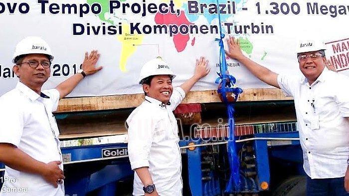 Komponen Pembangkit Listrik Produksi PT Barata Indonesia Dikirim ke Brazil