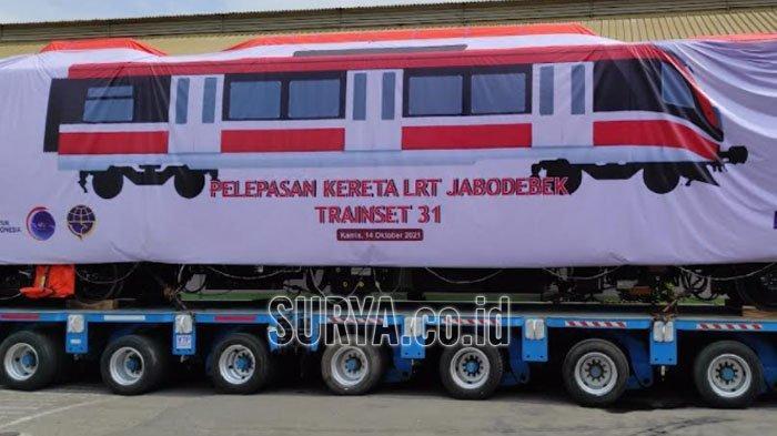 PT INKA Madiun Kirim Trainset Terakhir Proyek Lintas Rel Terpadu Jabodebek