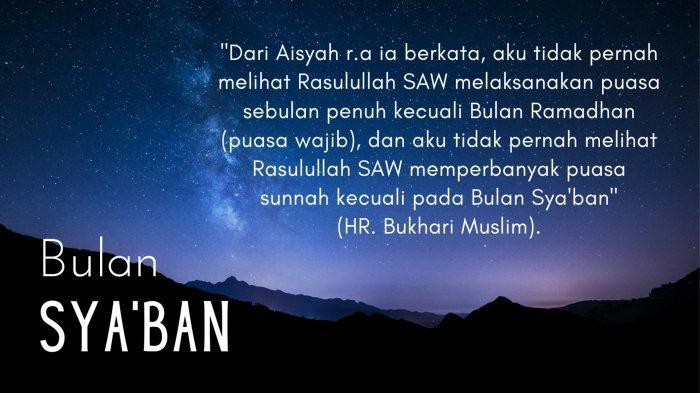 Bacaan Niat Puasa Sya'ban Gabung Qadha Utang Puasa Ramadhan, Agar Dapat Pengampunan Dosa