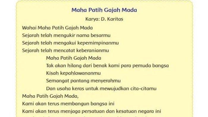 Puisi Maha Patih Gajah Mada
