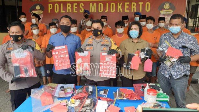 Di Kabupaten Mojokerto, Polisi Tangkap 22 Pengedar Narkoba Selama Sebulan