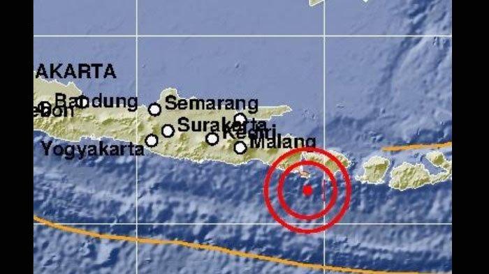 Gempa Bumi 6,0 SR yang Guncang Jember dan Banyuwangi Berpusat 83 Km Barat Daya Nusa Dua Bali