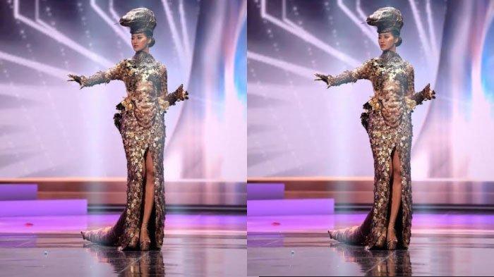 Sematkan Ribuan Keping Logam di Kostum Komodo saat Ajang Miss Universe 2021