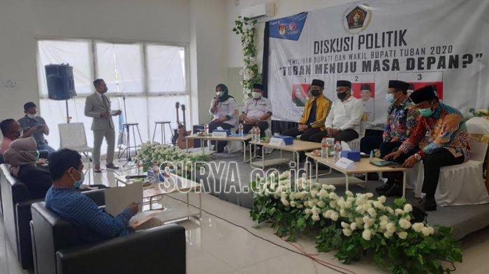 Pilbup Tuban 2020, PWI Tuban Gelar Diskusi Politik Dihadiri Tiga Cabup-cawabup