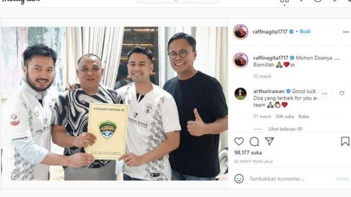 Raffi Ahmad Beli Klub Bola Cilegon United, Ini Penjelasan Presiden Klub, Raffi: Mohon Doa Bismillah