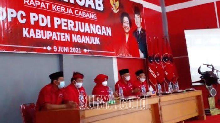 Rakercab DPC PDIP Kabupaten Nganjuk, Menata dan Rapatkan Barisan Jelang Pemilu 2024