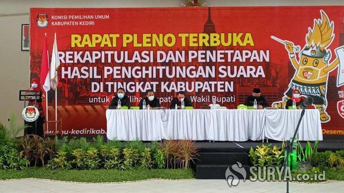 KPU Tetapkan Dhito-Dewi Meraih 590.644 Suara dalam Pilkada Kediri 2020
