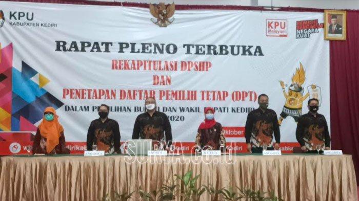 KPU Kabupaten Kediri Tetapkan Jumlah Daftar Pemilih Tetap Ada 1.231.512