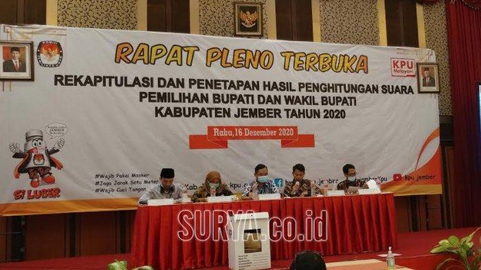 Pilkada Jember 2020, Rekapitulasi Suara Usai, Pasangan Hendy-Gus Firjaun Menang