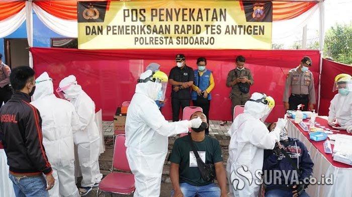 Warga Luar Kota yang Melintas di Sidoarjo Dites Rapid Antigen, Tiga Orang Reaktif