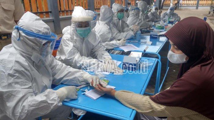 Ada Pedagang Meninggal Terpapar Covid-19, Rapid Test Digelar di Pasar Bendo Kabupaten Trenggalek
