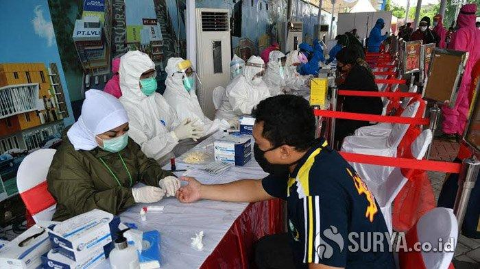 Wali Kota Risma Beber Hasil Rapid Test Massal Bersama BIN di Jalan Gresik Surabaya