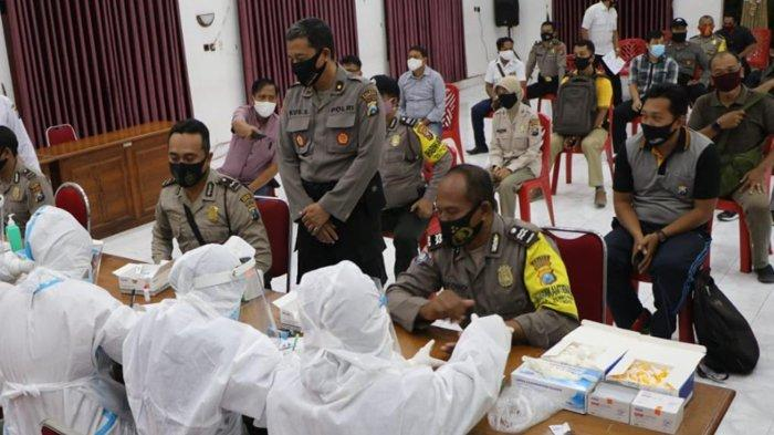 Rapid Test Massal di Polres Kediri Kota, Satu Polisi dan Satu ASN Dinyatakan Reaktif