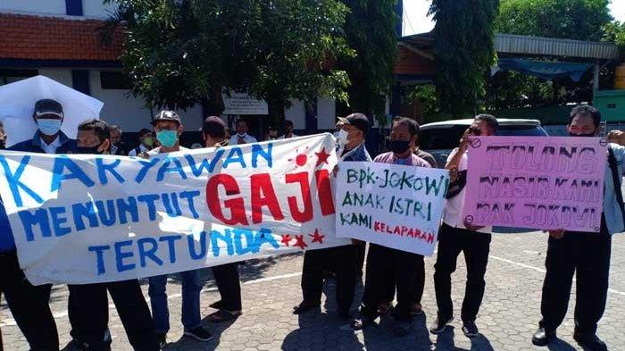 Tuntutan Karyawan Damri Surabaya saat Menggelar Unjuk Rasa