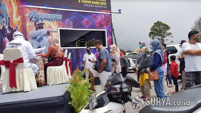 Tim Gabungan Satgas Covid-19 Magetan Razia Pelintas Perbatasan Jatim - Jateng