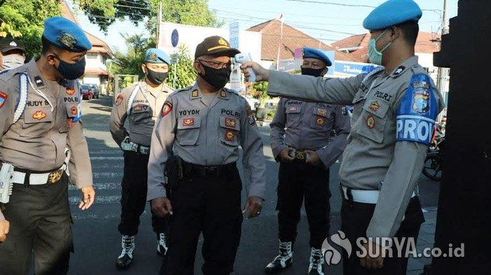 Ketahuan Tidak Pakai Masker, Anggota Polres Kediri Kota Bakal Dihukum Kerja Sosial