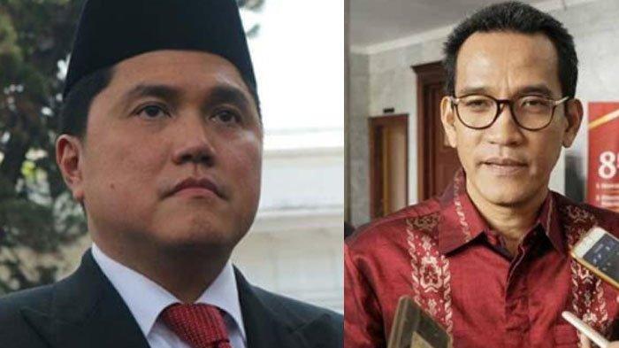 Refly Harun dicopot oleh Menteri BUMN Erick Tohir dari Komisaris Utama PT Pelindo I.