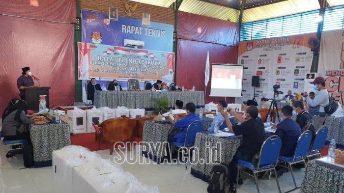 Rekapitulasi Hasil Perhitungan Suara Tingkat Kabupaten di Pilkada Mojokerto 2020
