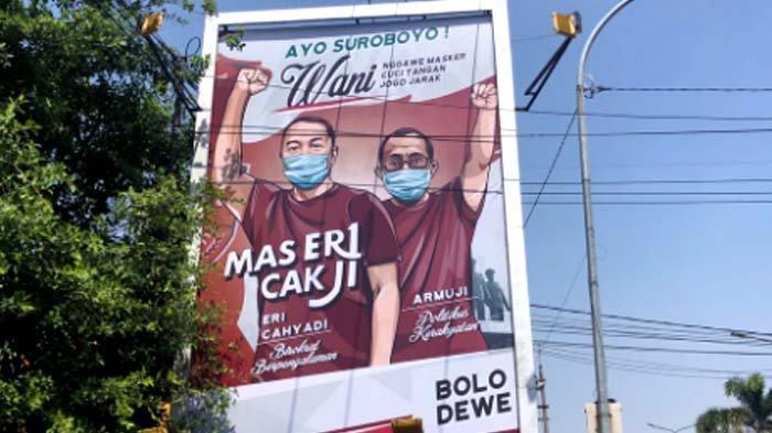 Bermunculan Reklame ErJi, Arek Suroboyo Wani, Cak Ji: Itu Pesan Moral Ajak Patuhi Protokol Kesehatan