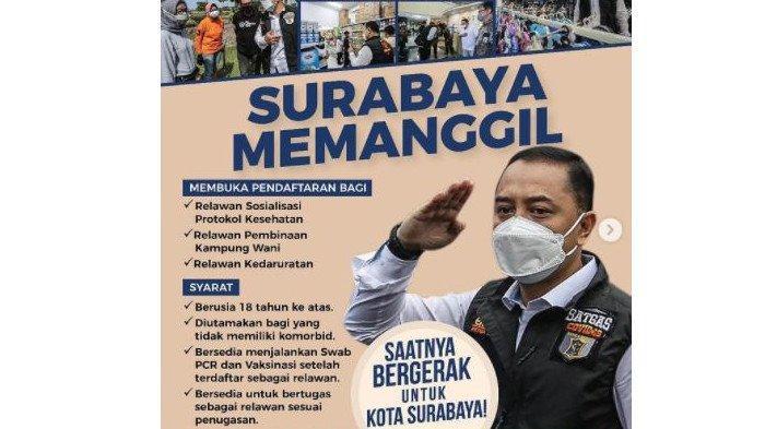 Cara Daftar Relawan Penanganan Covid-19 di Surabaya, Beserta Syarat dan Link Pendaftaran
