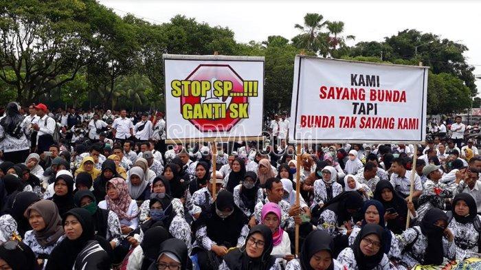Ribuan GTT Jember Tuntut 13 Hal ke Bupati, Begini Jawaban Faida