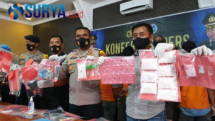 Sabu Warna Hijau Bikin Penasaran saat Rilis 24 Pengedar di Mojokerto