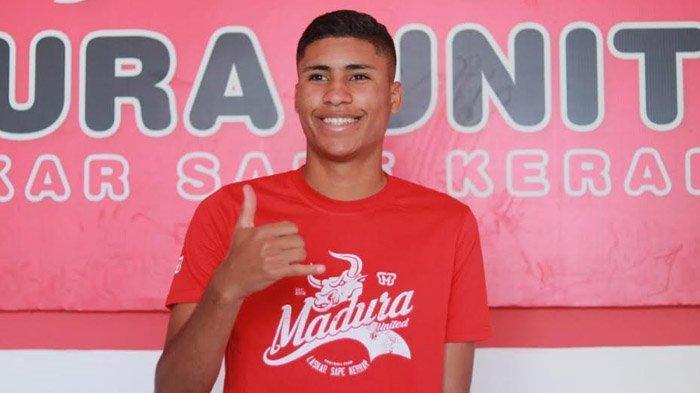 Madura United Kenalkan Rekrutan Anyar, Robert Junior Rodrigues Santos, Pemain Muda Asal Brasil