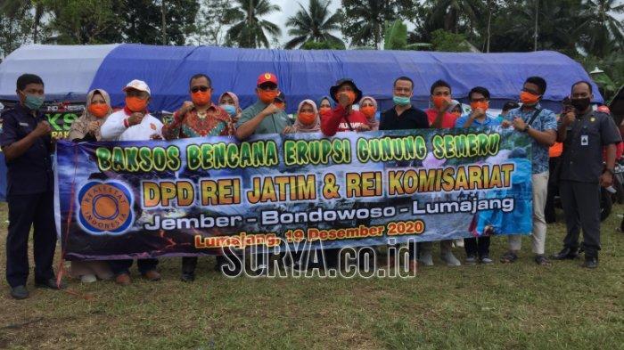 Bantuan 10 Tangki Air Bersih dan Ratusan Paket Sembako untuk Pengungsi Gunung Semeru