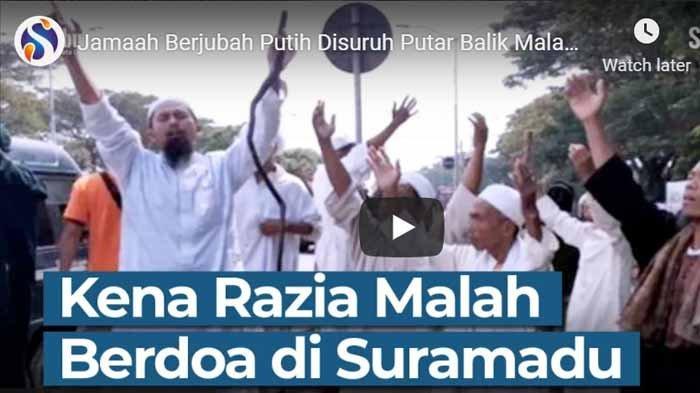 Aksi Rombongan Pria Berjubah Putih Dicegat di Suramadu Viral Videonya, Lakukan Ini di Pos Penyekatan