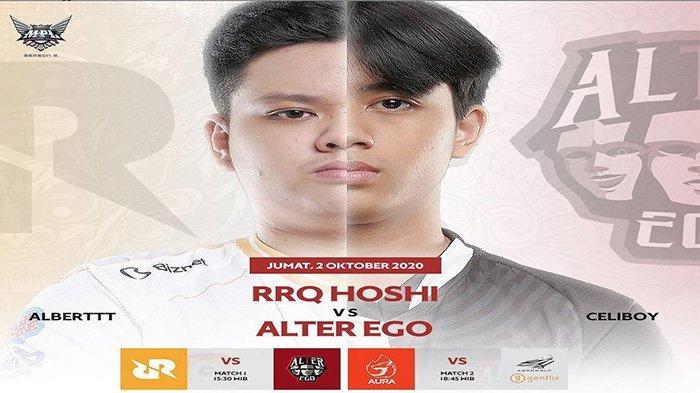 Jadwal MPL Season 6 Week 8 Day 1: Big Match RRQ Hoshi vs Alter Ego, Duet XIN-Albert Jadi Andalan