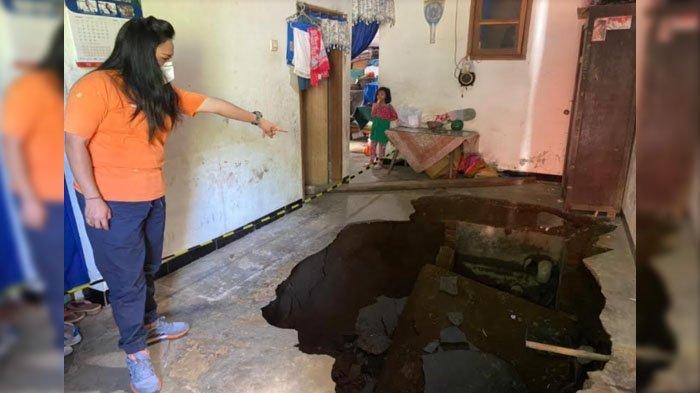 Warga Kota Malang yang Rumahnya Ambles Akibat Gempa Bumi dapat Bantuan dari BPBD