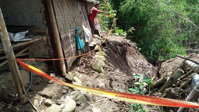 Tujuh Rumah Warga di Desa Tugu Tulungagung Terancam Longsor, Satu Rumah Sudah di Bibir Sungai