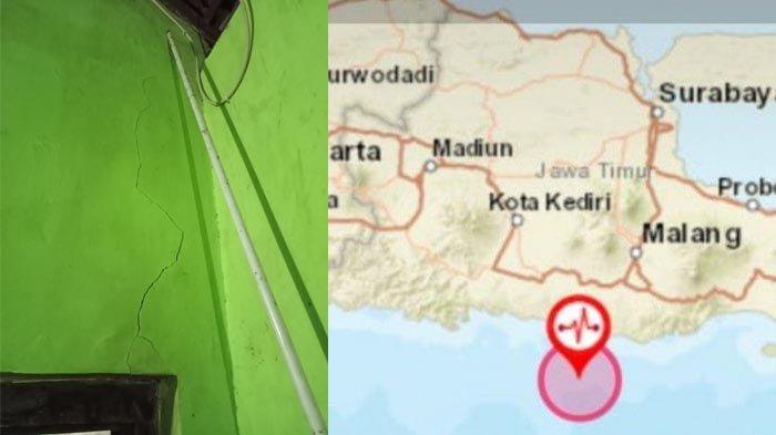 Tiga Rumah Warga Gedog Kota Blitar Rusak Akibat Gempa Bumi di Kabupaten Blitar