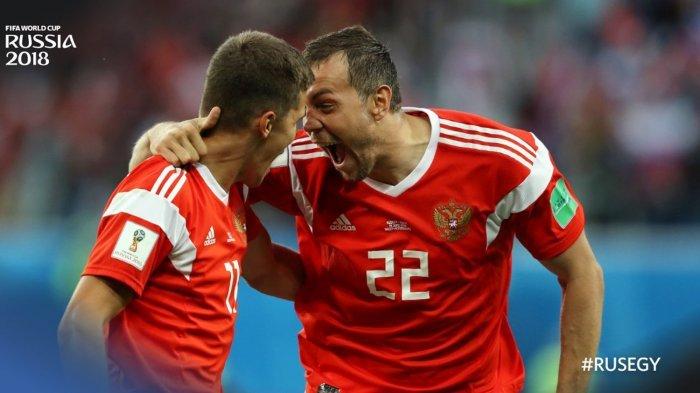 Hasil Piala Dunia 2018 Rusia vs Mesir Skor 3-1, Gol Penalti Mohamed Salah Tak Cukup Berpengaruh